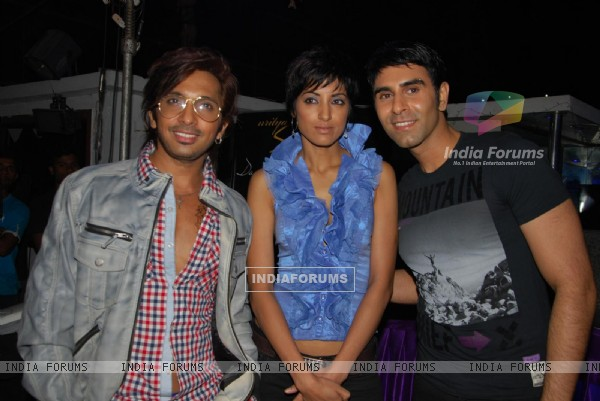 Terence Lewis, Sandip Soparkar with wife Jessy at launch of Shakti Mohan's Dance Calendar