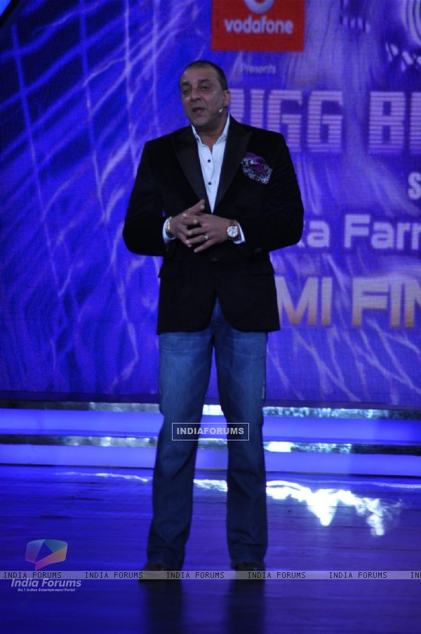 Sanjay Dutt on the sets of Bigg Boss Season 5