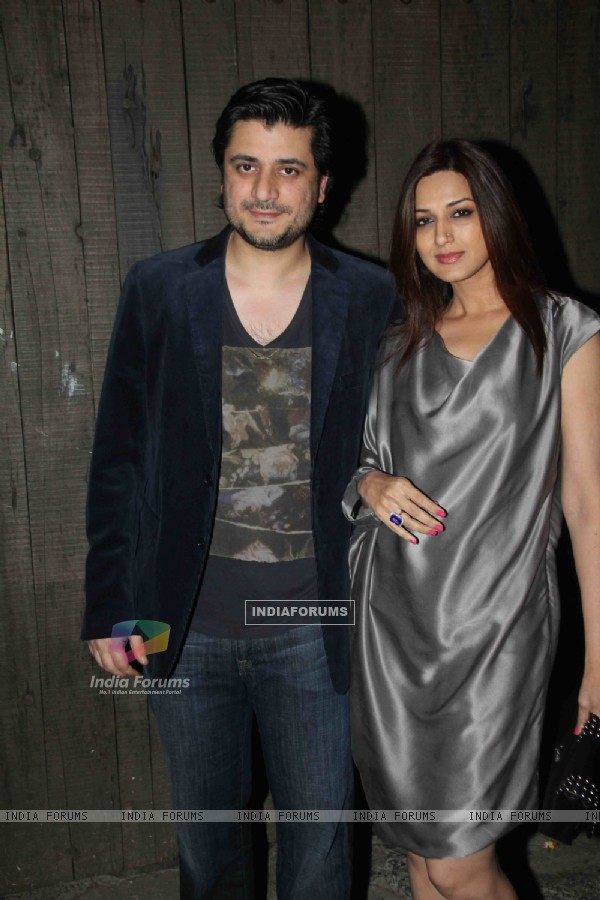 Sonali Bendre with hubby Goldie Behl snapped on her Birthday Bash
