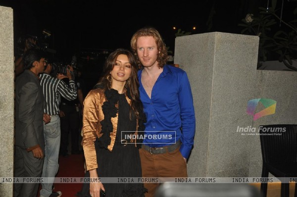 Shama Sikander and Alex O Neil at launch of Mohini's new restaurant Mangiamo