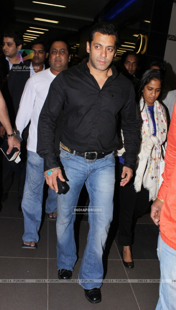 Salman Khan snapped at Mumbai International Airport