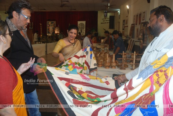 Jackie Shroff at Paramparika Karigar's exhibition in Bandra, Mumbai