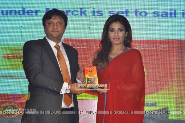 Raveena Tondon during the new Brand Ambassador and Launch of 'Seven Seas Oil' at Taj Hotel