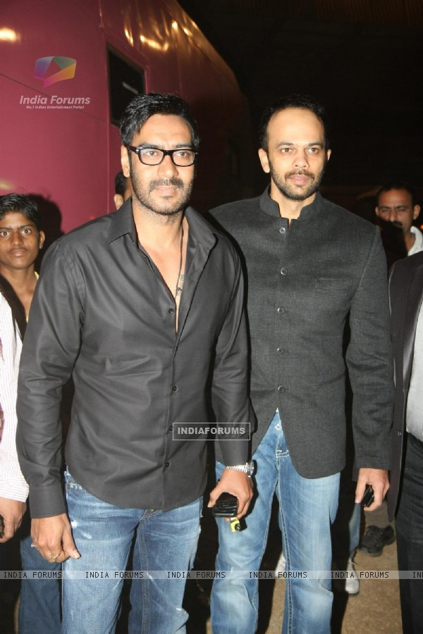 Ajay Devgn and Rohit Shetty at Police event Umang-2012