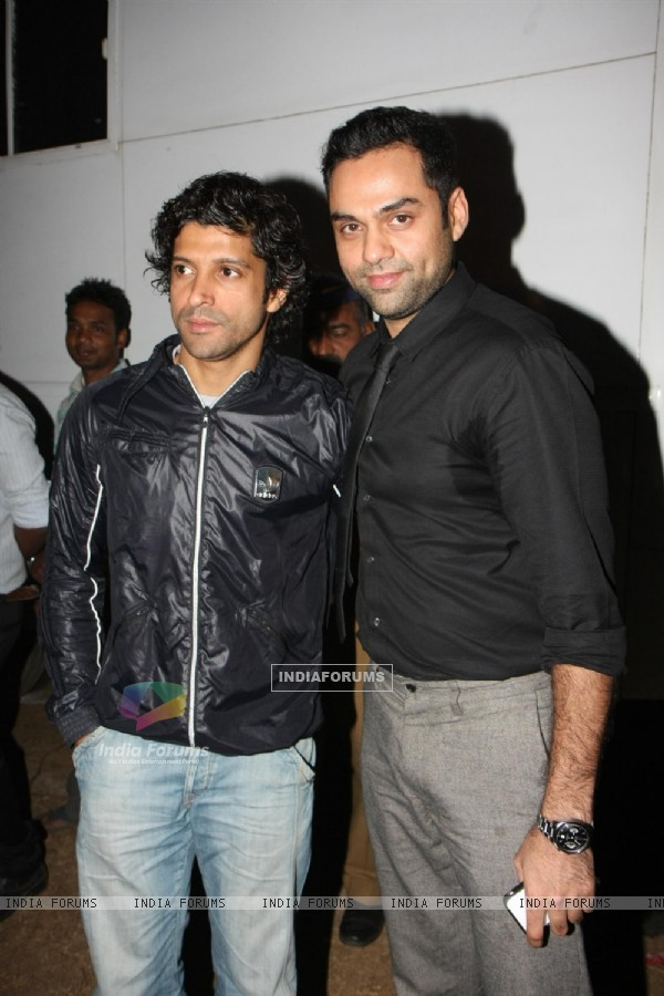 Farhan Akhtar and Abhay Deol at Police event Umang-2012