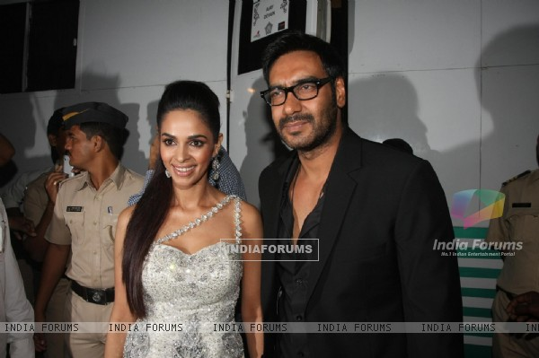 Ajay Devgn and Mallika Sherawat at Police event Umang-2012