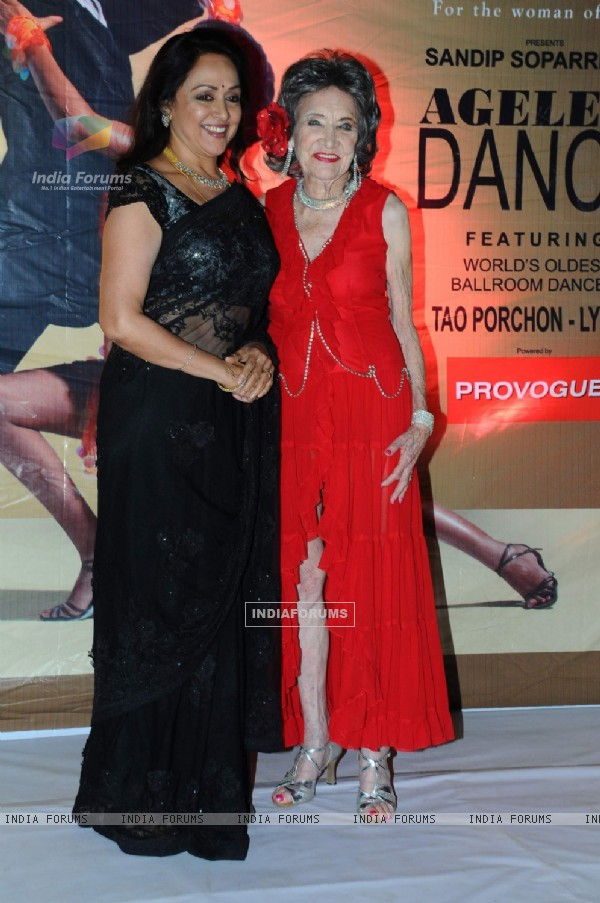 Hema Malini at Sandip Soparkar show 'Ageless Dance' at Sheesha Lounge in Andheri, Mumbai