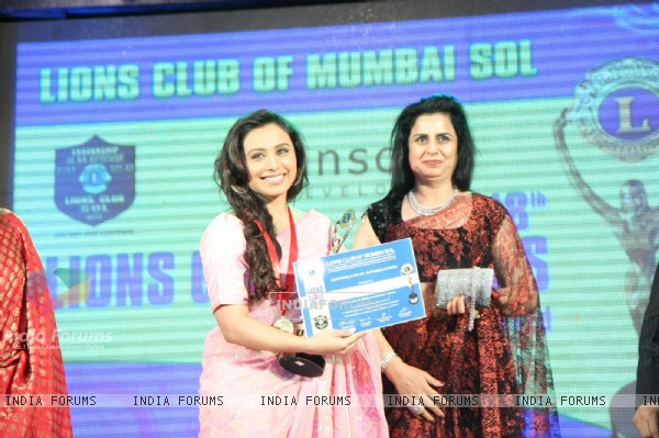 Rani Mukherjee at 18th LIONS GOLD AWARDS at Bhaidas Hall in Mumbai