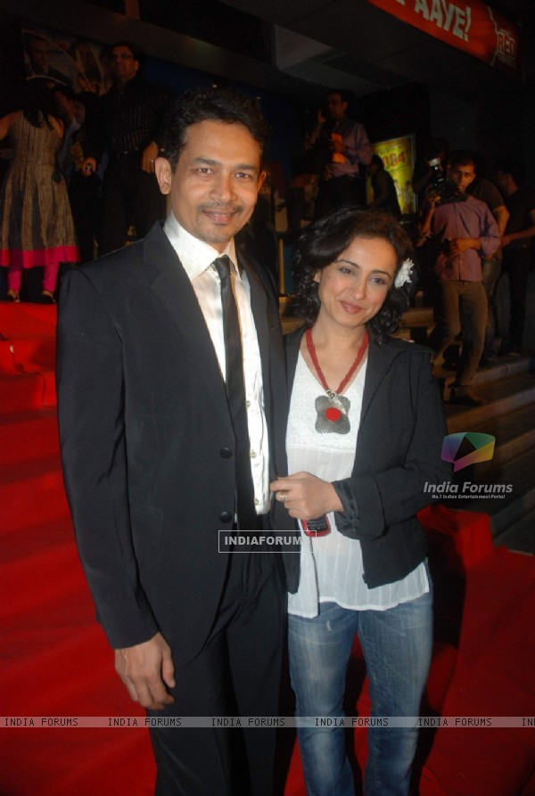 "Atul Kulkarni and Divya Dutta at the premiere of film ""Chaalis Chaurasi"" in Cinemax, Mumbai"