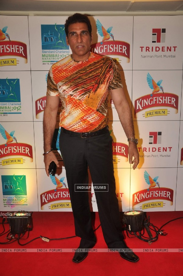 Mukesh Rishi at Mumbai Marathon Pre Bash