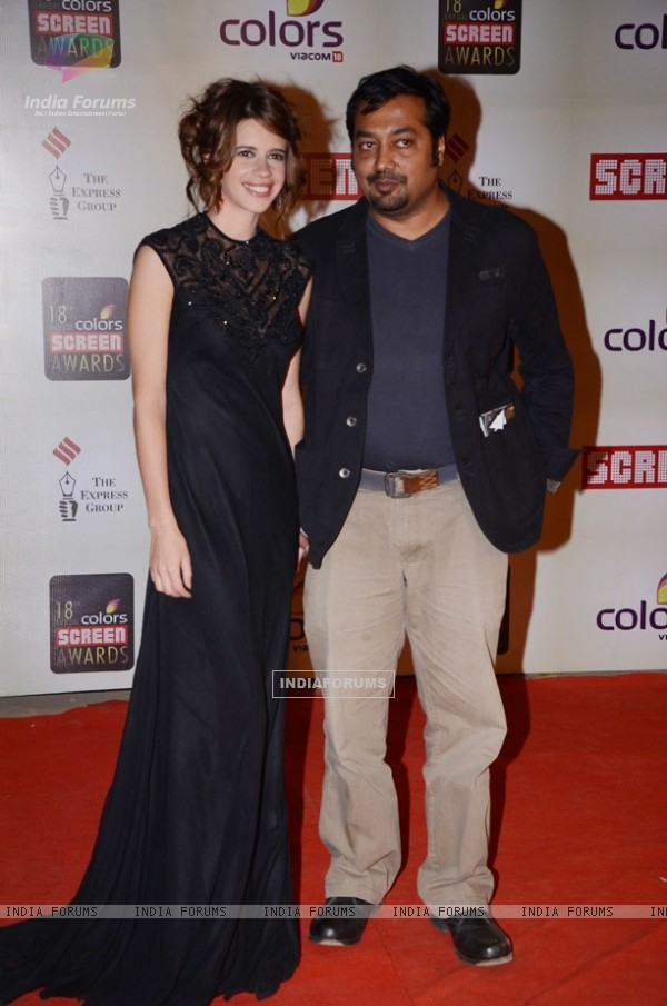 Kalki and Anurag Kashyap at the Red Carpet of Colors Screen Awards