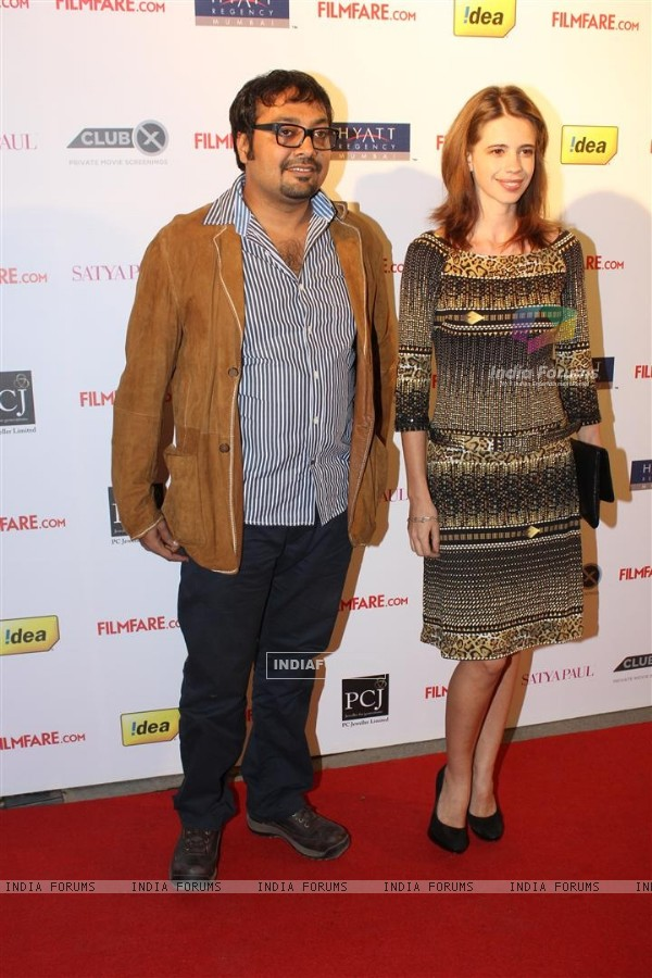 Kalki Koechlin & Anurag Kashyap at 57th Filmfare Awards 2011 Nominations Party at Hotel Hyatt Regenc