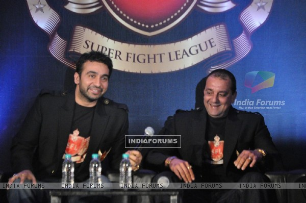 Sanjay Dutt and Raj Kundra launch Super Fight League 'SFL' at Novotel Hotel