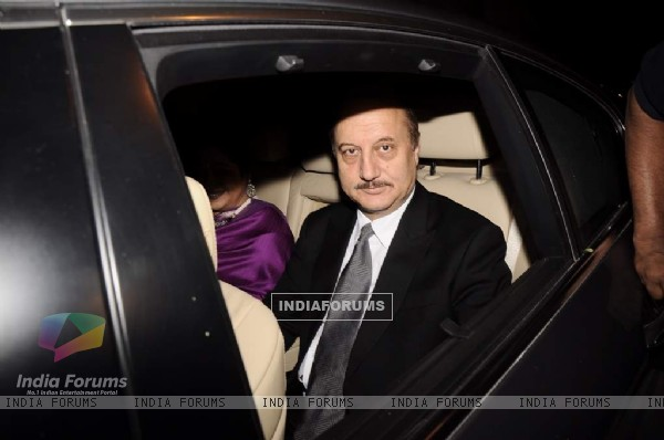Anupam Kher at Parmeshwar Godrej's party for Hollywood talk show host Oprah Winfrey in Mumbai