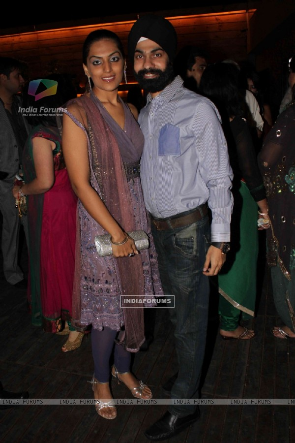 Ad Singh at Deepshikha Nagpal and Kaishav Arora sangeet ceremony in Mumbai