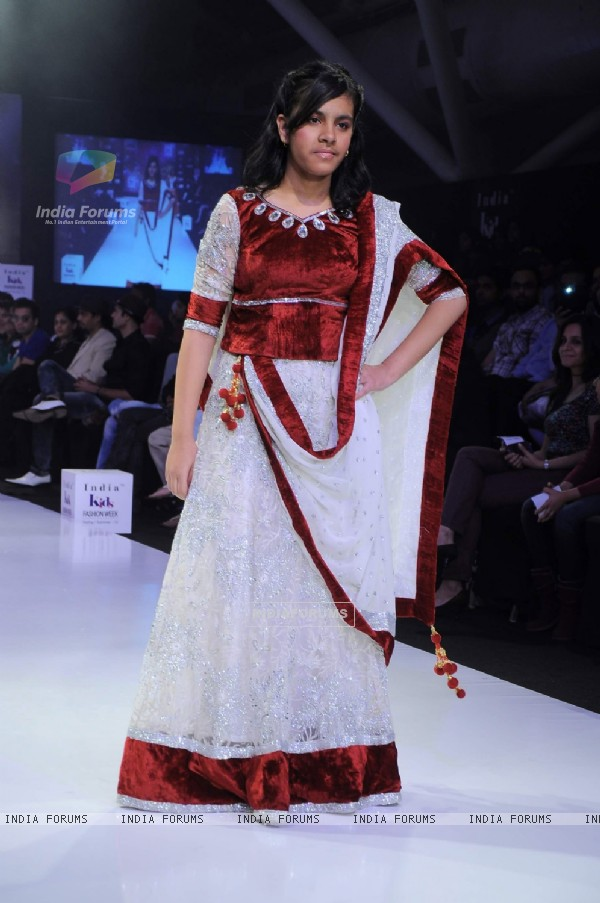 Designer Prachi Badve displays her collection on Day 3 at India Kids Fashion Show at Intercontinental The Lalit. .