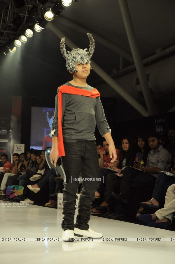 AZ Couture displays collection on Day 3 at the India Kids Fashion Show. .