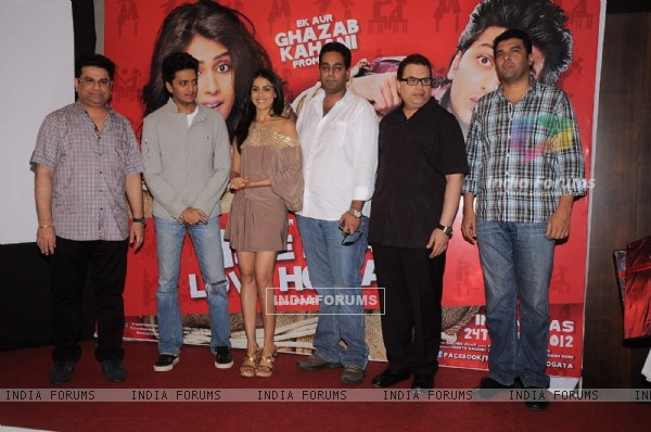 Genelia, Ritesh and crew at Music launch of movie 'Tere Naal Love Ho Gaya'