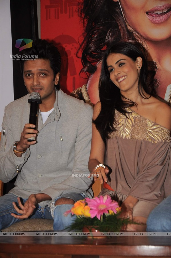 Genelia and Ritesh at Music launch of movie 'Tere Naal Love Ho Gaya'