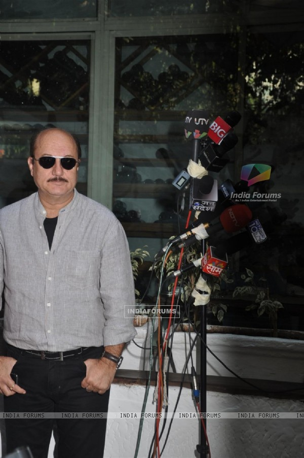 Anupam Kher at book launch of 'Women & The Weight Loss Tamasha' written by Rujuta Diwekar at Olive B