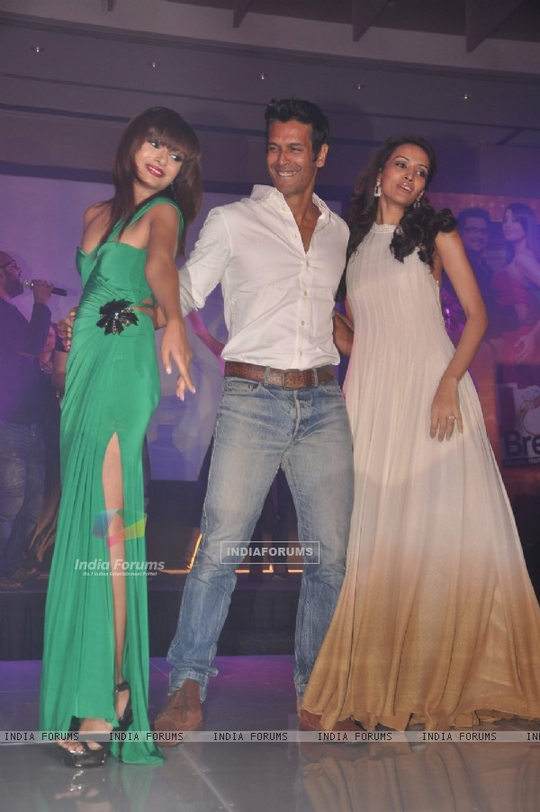 Dipannita Sharma and Milind Soman at the music launch of movie