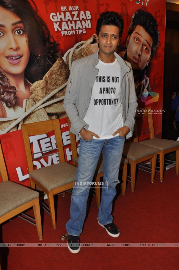 Ritesh Deshmukh during the music launch of film Tere Naam Love Ho Gaya in Mumbai