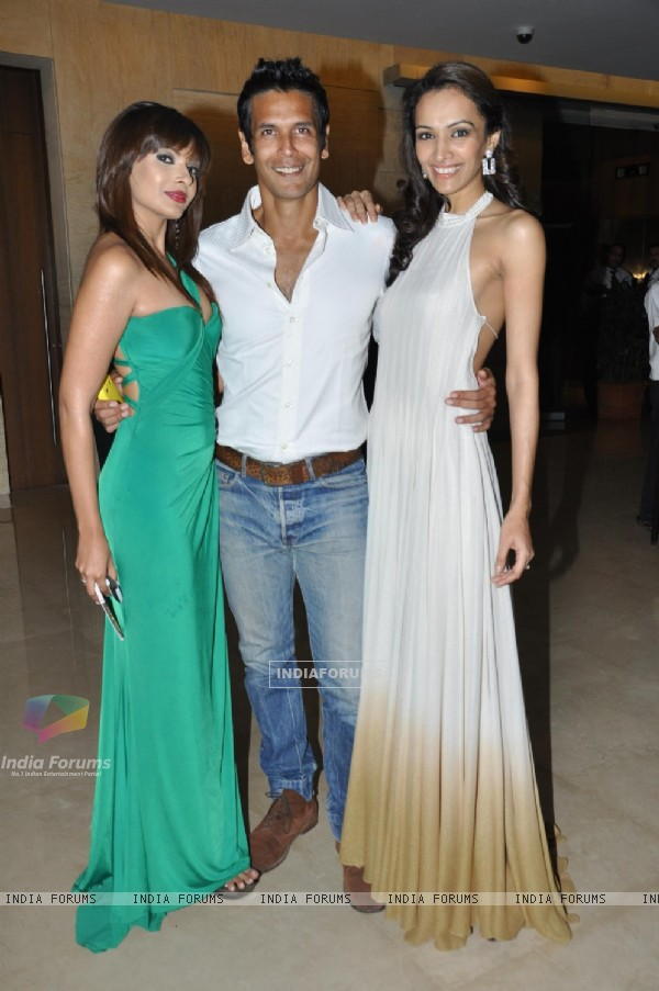 Dipannita Sharma, Milind Soman at Music launch of movie 'Jodi Breakers' at Goregaon