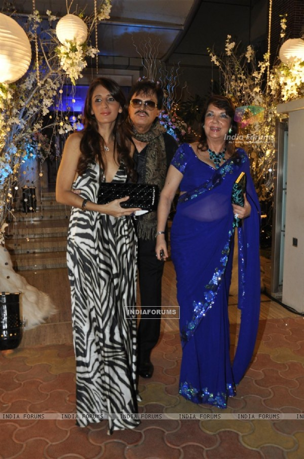 Sanjay Khan with wife grace Sunaina Roshan's Birthday Bash