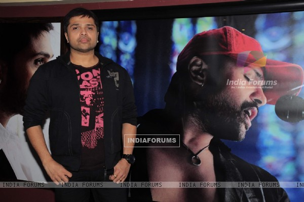 Himesh Reshammiya record a song at MHADA