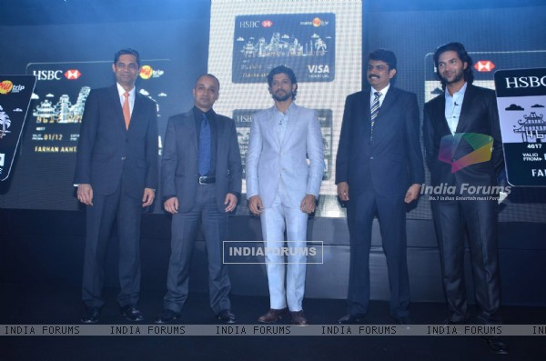 Farhan Akhtar launches HSBC and Makemytrip credit card at Grand Hyatt
