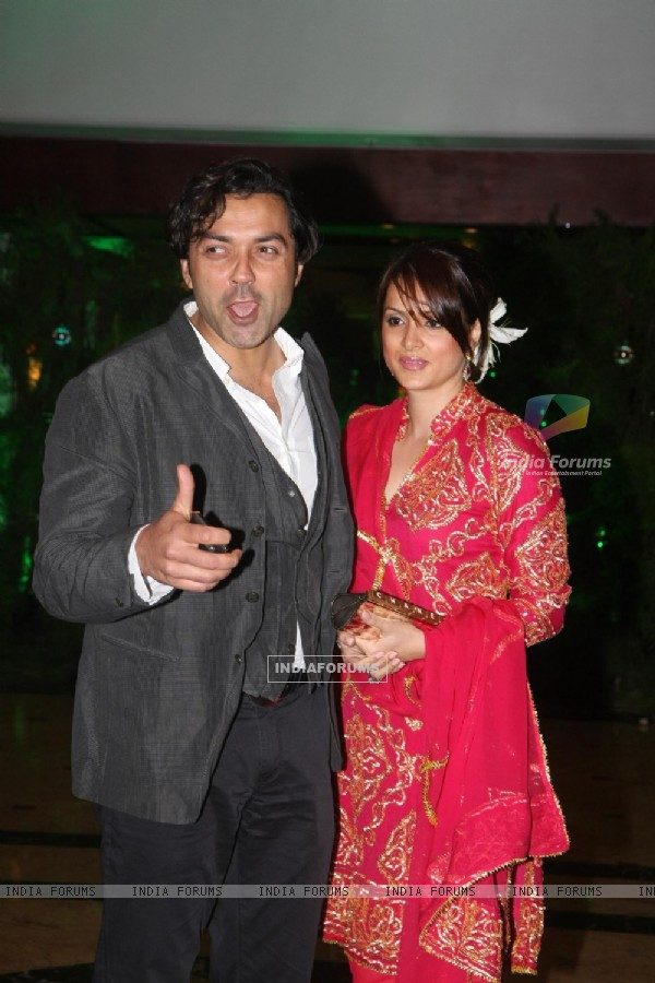 Bobby Deol at Ritesh Deshmukh & Genelia Dsouza Sangeet ceremony at Hotel TajLands End in Mumbai
