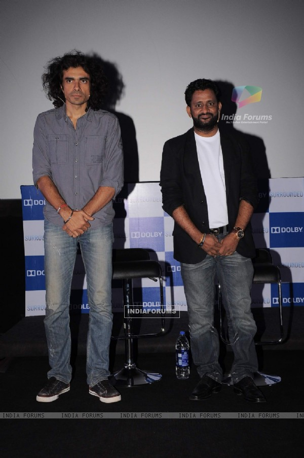 Imtiaz Ali, Resool at Dolby press meet at PVR