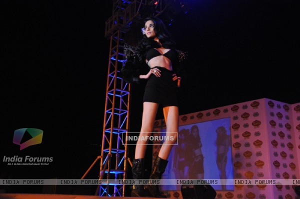 Models walk the ramp for McDowell's Signature Premier Indian Derby 2012 fashion show at RWITC