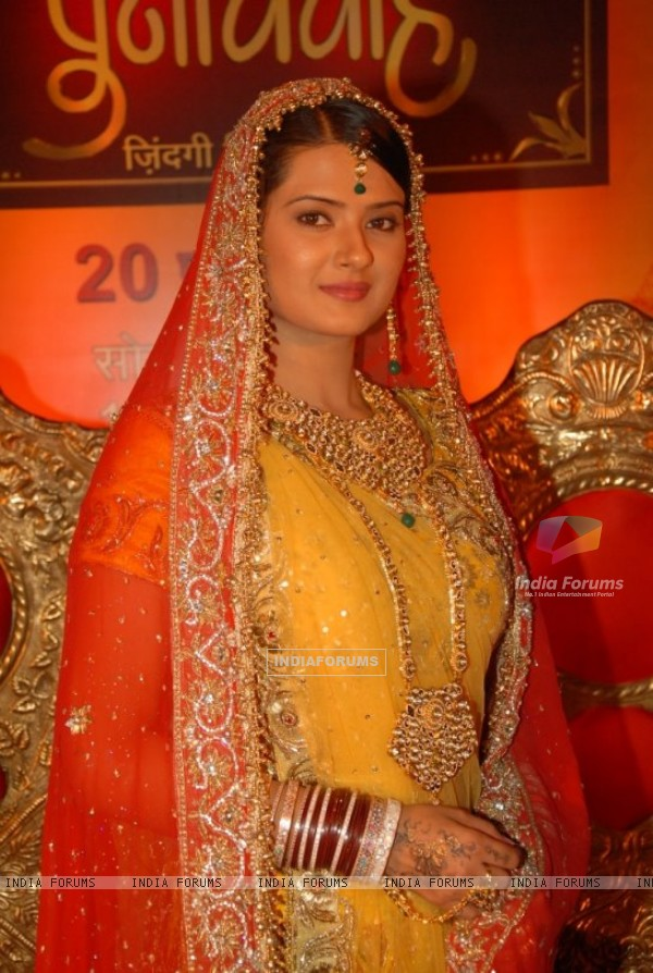 Kratika Sengar at ZEE TV Punar  Zee Tv Serial Actress In Saree