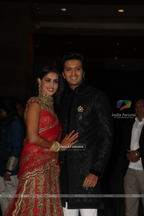 Ritesh Deshmukh & Genelia Dsouza wedding reception in Mumbai