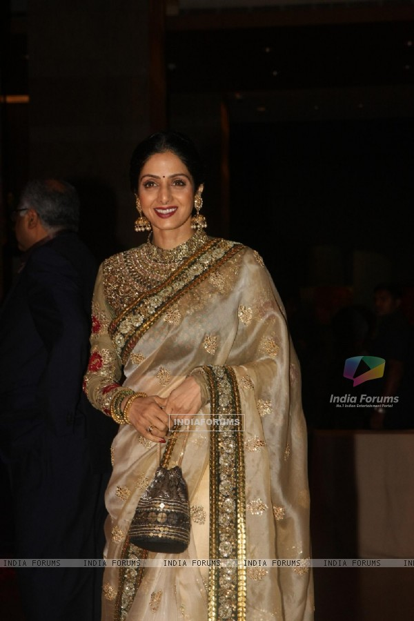 Sridevi Kapoor grace Ritesh Deshmukh & Genelia Dsouza wedding reception in Mumbai