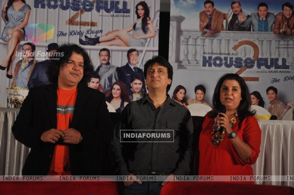 Sajid & Farah Khan at First look launch of 'Housefull 2'
