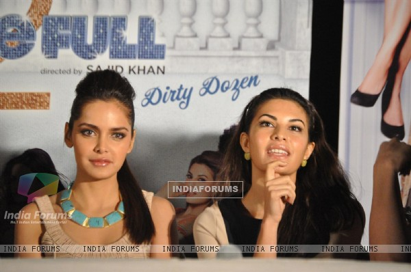 Shazahn Padamsee & Jacqueline at First look launch of 'Housefull 2'