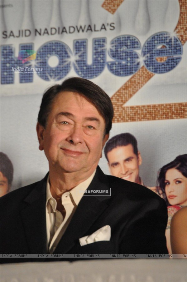 Randhir Kapoor at First look launch of 'Housefull 2'