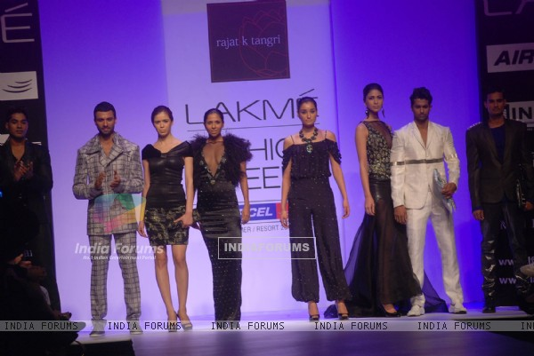 Model walk the ramp for designers Rajat k Tangri & Sailex on day 1 of the Lakme Fashion Week at Grand Hyatt in Mumbai. .