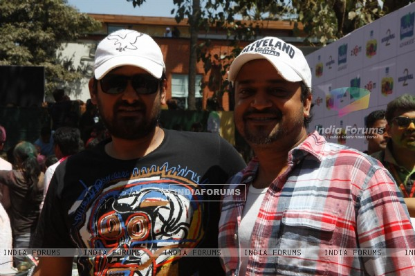 Sajid-Wajid at Zoom Holi bash