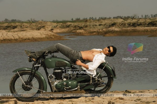 Ali Zafar on a bike
