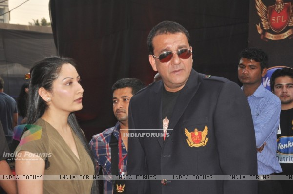 Sanjay Dutt and Manyata Dutt at the inaugural Super Fight League