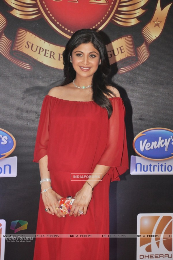 Shilpa Shetty at the inaugural Super Fight League