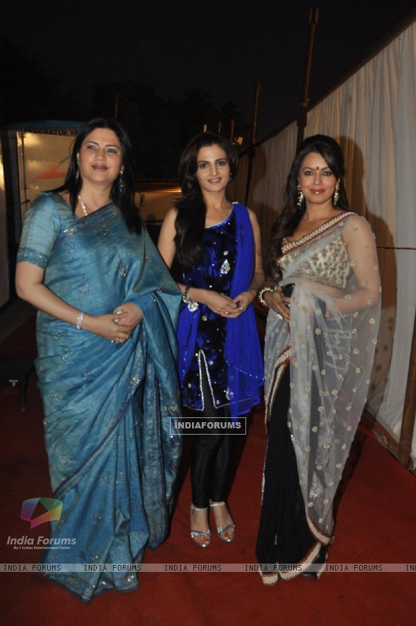 Kunicka Lall, Monica Bedi and Mahima Chaudhury at International Women's Day 2012 event
