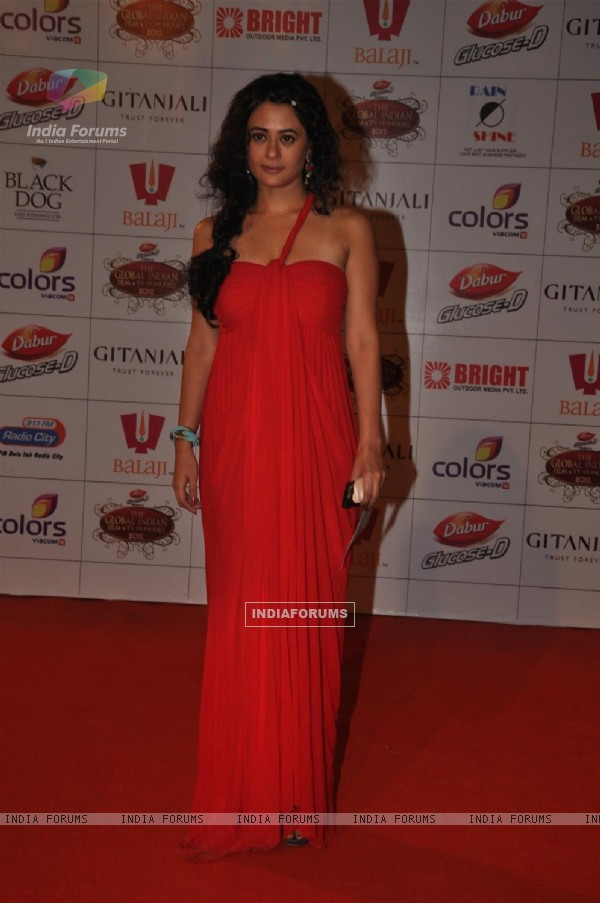 Mona Wasu at Global Indian Film & TV Honours Awards 2012