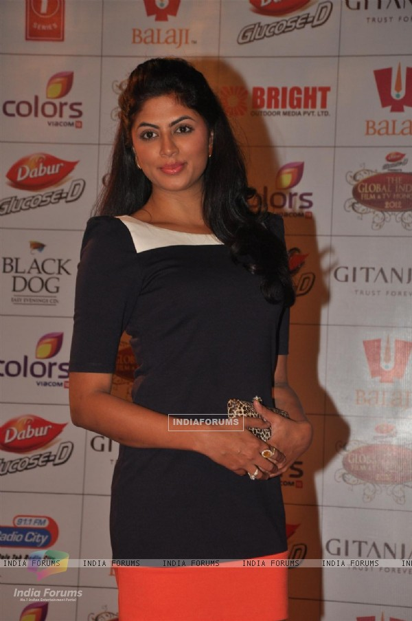 Kavita Kaushik at Global Indian Film & TV Honours Awards 2012