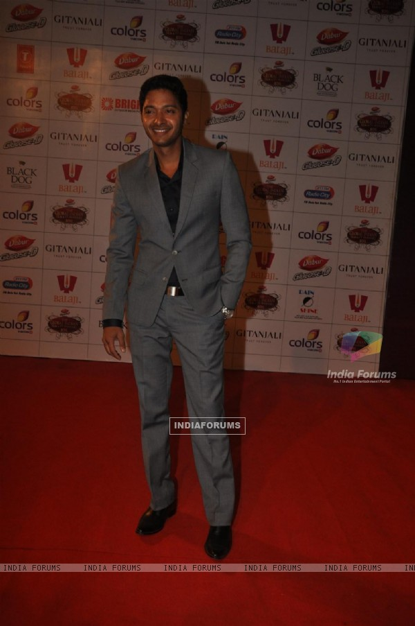 Shreyas Talpade at Global Indian Film & TV Honours Awards 2012