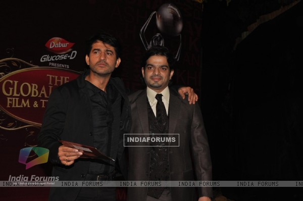 Hiten Tejwani and Karan Patel at Global Indian Film & TV Honours Awards 2012