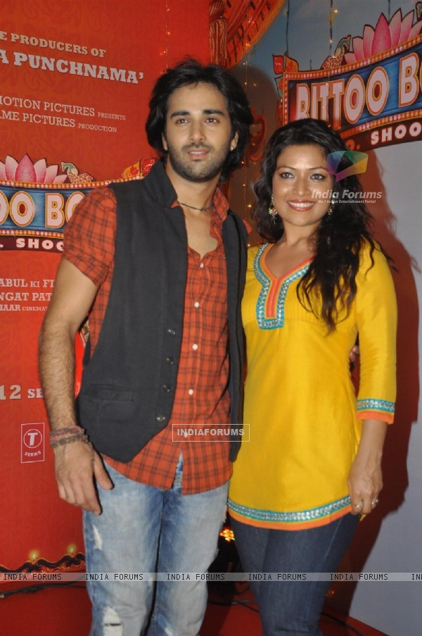 Pulkit Samrat & Amita Pathak at Music Release of Movie Bittoo Boss in Mumbai